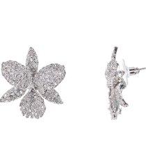 nina swarovski pave large orchid earring