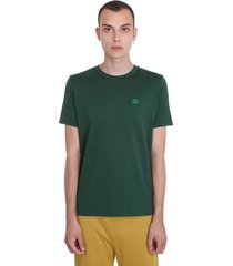 acne studios ellison face t-shirt in green cotton