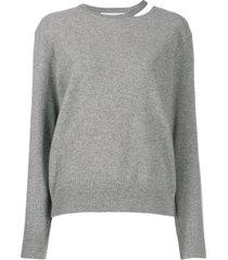 stella mccartney split-neck boiled sweater - grey