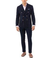 tallia men's slim-fit double breasted striped sport coat