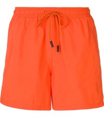 etro drawstring waist swim shorts - orange