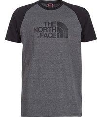 t-shirt korte mouw the north face men's s/s raglan easy tee