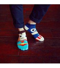 calzini a barca in cotone confortevole stampati di super hero