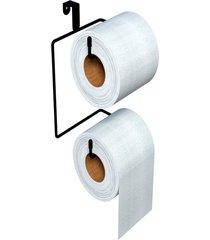 suporte p/ papel higiênico p/ caixa acoplada preto dicarlo