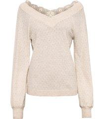 maglione con pizzo (beige) - rainbow