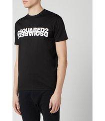 dsquared2 men's mirror logo t-shirt - black - xxl