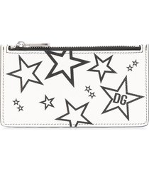 dolce & gabbana star print card holder - white