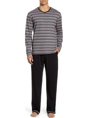 men's majestic international dawn time pajamas, size medium - black