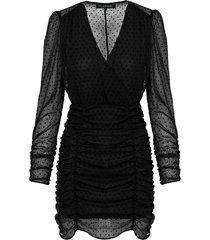 stippen jurk dames zwart