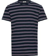 striped piqu t-shirts short-sleeved blå tom tailor