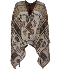 etro jacquard cape with paisley pattern