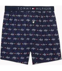 tommy hilfiger men's character print boxer logo print on navy blazer - xxl
