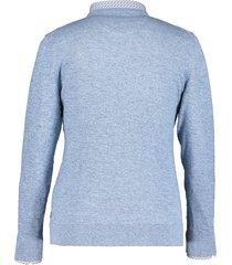 state of art pullover ronde hals mouline lichtblauw 10192-5157 licht blauw
