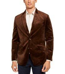 tasso elba men's velvet sport coat, created for macy's