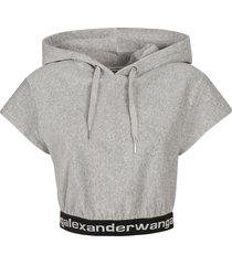 alexander wang stretch corduroy cap sleeved top