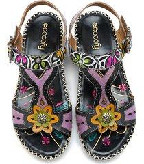 socofy boho sandali in pelle stampati di foresta fatti a mano con velcro