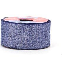 fita de cetim com lurex 38mm 10m azul royal