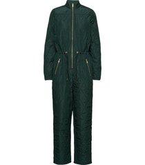 krystal padded jumpsuit jumpsuit groen modström