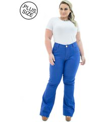 calça jeans plus size - confidencial extra flare missy