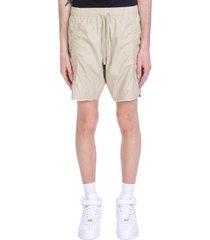 john elliott shorts in beige cotton