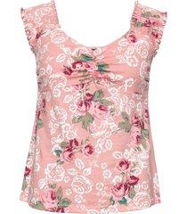 top in jersey a fiori (rosa) - rainbow