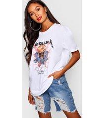 gebleekt metallica t-shirt, wit