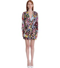 balenciaga dress in multicolor viscose