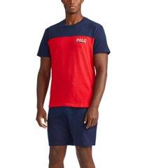 polo ralph lauren men's breathable mesh colorblocked sleep shirt