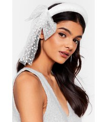 womens get to bow me organza padded headband - white