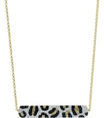 "effy multi-color diamond 18"" bar pendant necklace (3/4 ct. t.w.) in 14k gold"