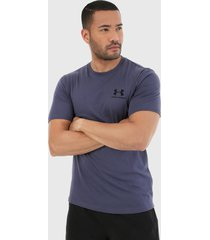 camiseta azul-negro under armour chest ss shirt