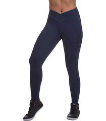 calça legging miss blessed transpassada azul escuro