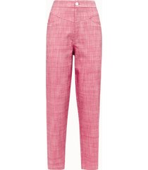 giuliette brown pantalone puffy in cotone rosa