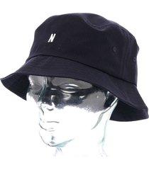 norse projects seersucker bucket hat - navy