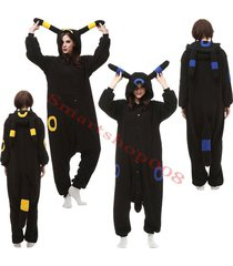 pokemon umbreon kigurumi pajamas anime cosplay costume unisex adult jumpsuit