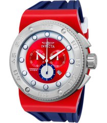 reloj invicta modelo 12315_out azul, blanco, rojo hombre