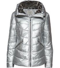cornelia jacket fodrad jacka silver cream