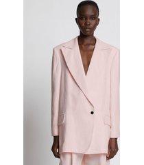 proenza schouler linen viscose blazer pink 6
