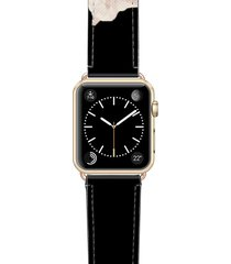 women's casetify sweet pea saffiano faux leather apple watch strap