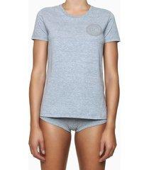 blusa feminina estampa icon cinza mescla calvin klein - s
