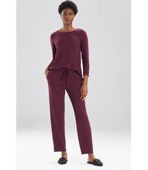 mirage pants, women's, purple, size l, n natori