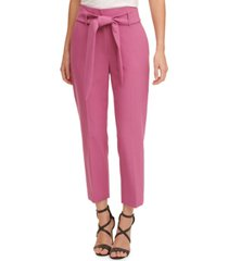 dkny petite belted pants