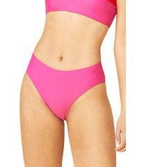 women's summersalt the high leg bikini bottoms, size 12 - pink