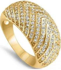 anillo cristales casual blanco arany joyas