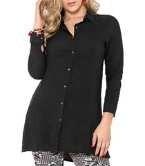 blusa maribel negro para mujer croydon