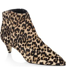 kinzey leopard-print calf-hair kitten heel booties