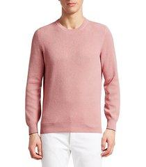 cashmere, silk & wool crew sweater