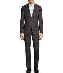 plaid notch suit