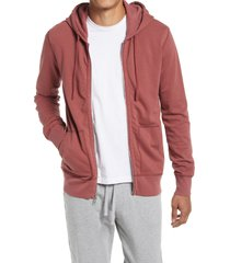 men's reigning champ zip hoodie, size medium - red