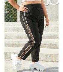 pantalones de retazos de encaje de talla grande yoins